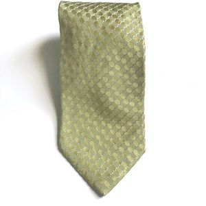 Hugo Boss 100% Silk Textured Green Tie